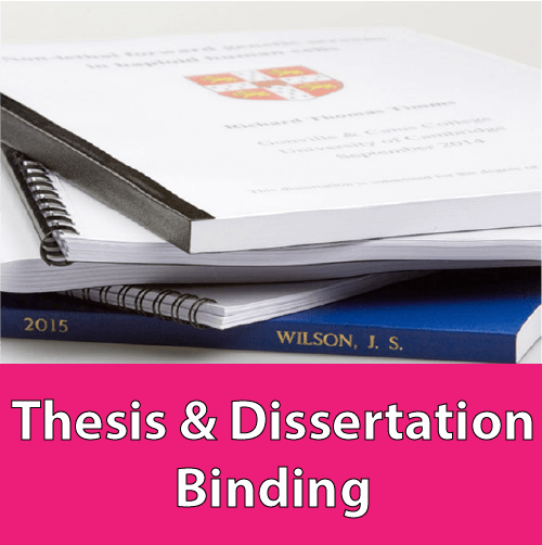 Thesis & Dissertation BINDING