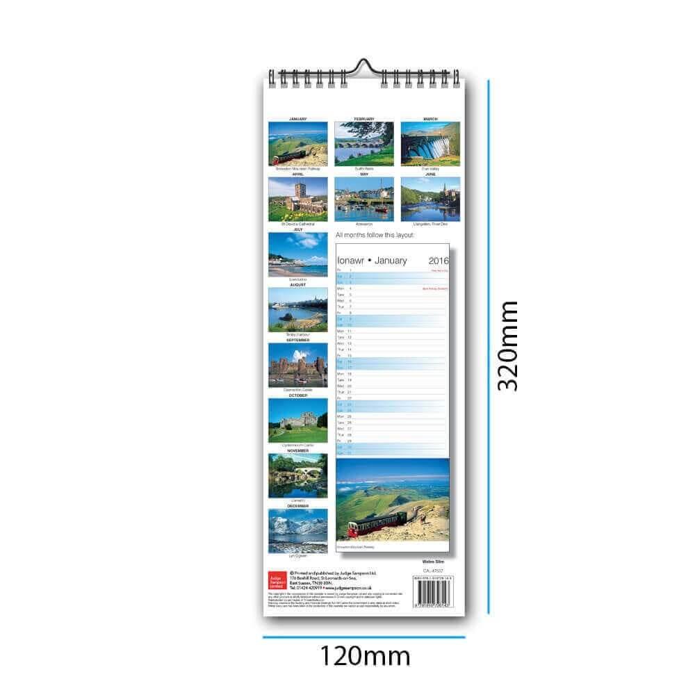 Slim Wire Bound Calendars