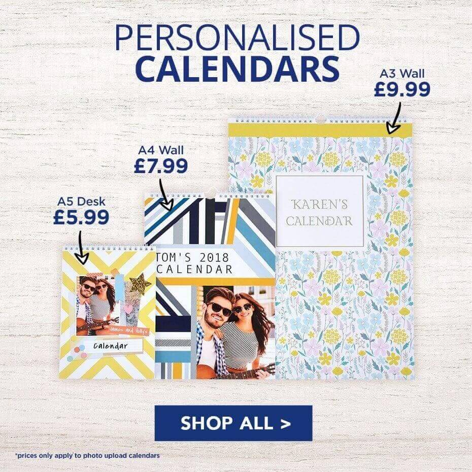 personalised calendar printing