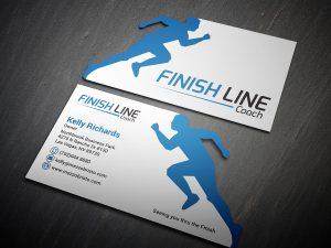 Gym Running Die cut business cards