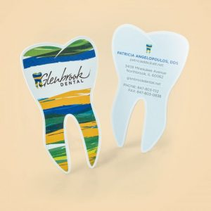 tooth shape die cut business cards