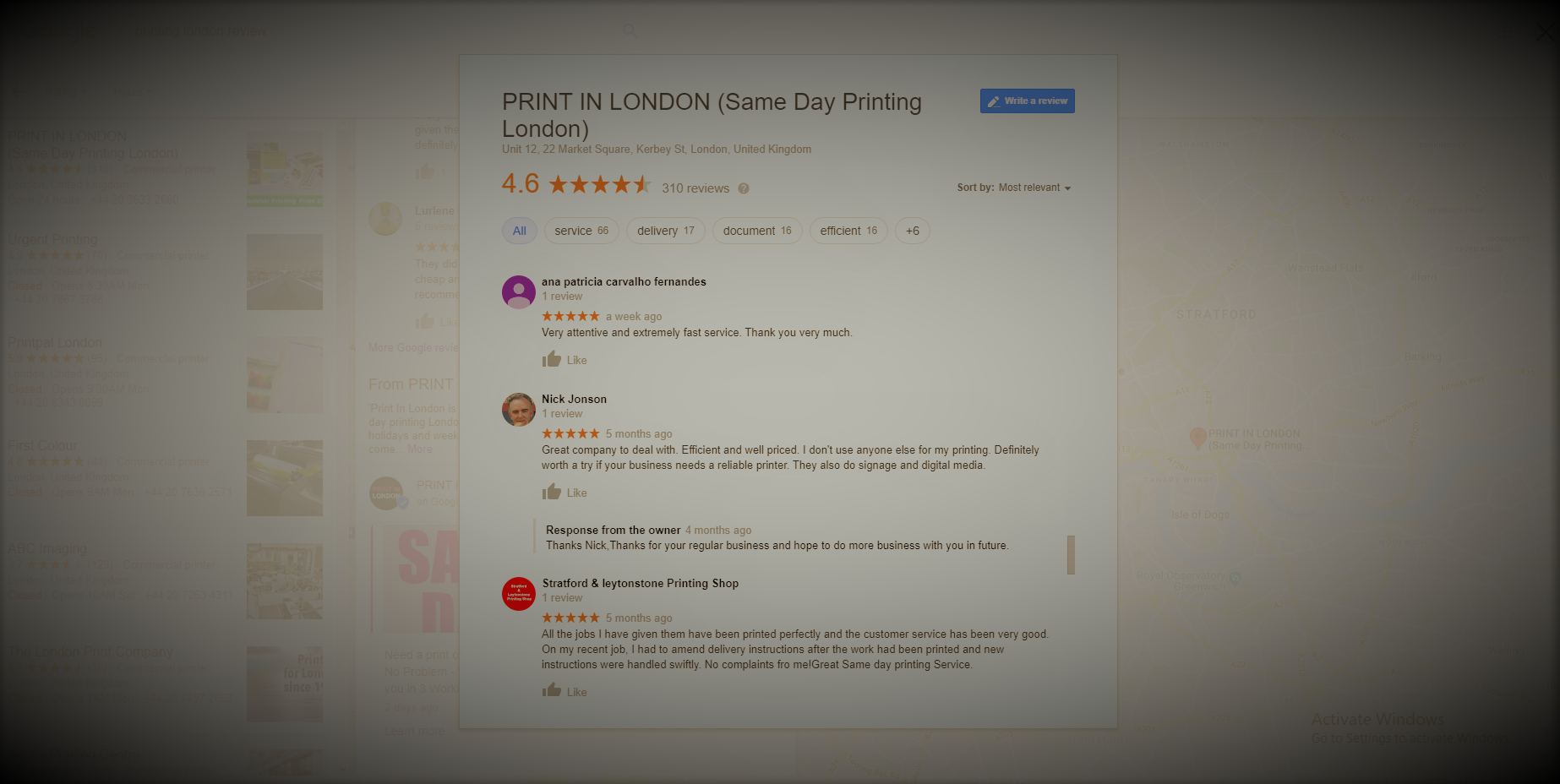 print in london review