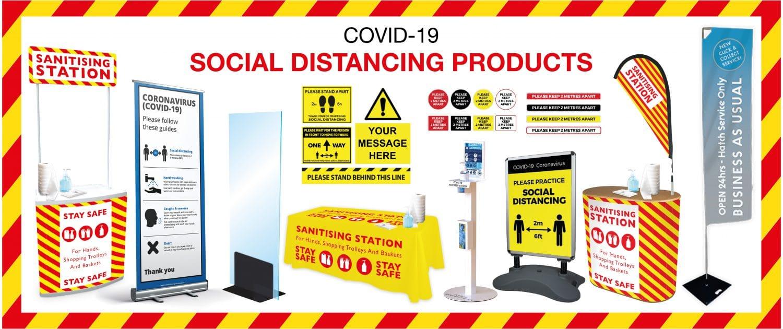 Printing Signs social distancing
