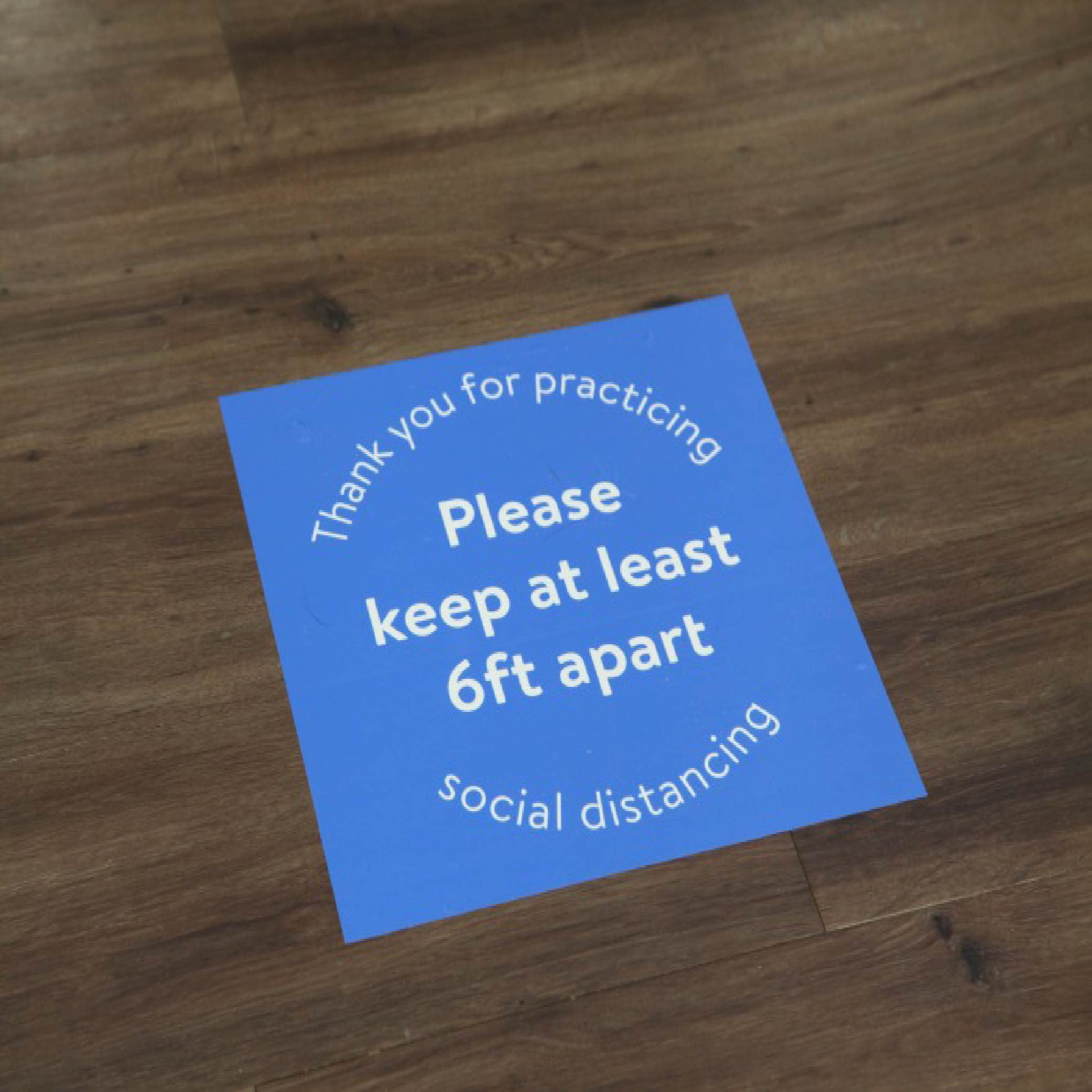 social distancing signs & floor stickers Printing London